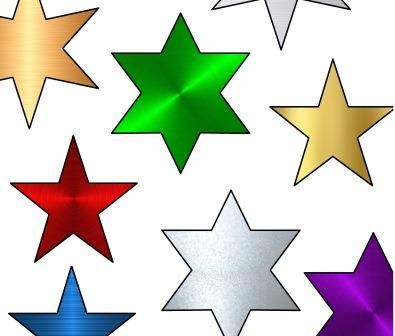 Free printable bulletin display board accents.  Metallic stars.  Can change the size of the stars or print as they are.  Huge choice of colours, also available in glitter and plain colour backgrounds.