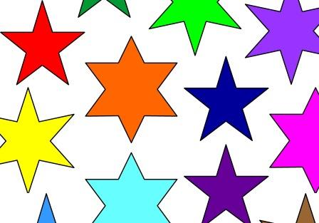 Free printable bulletin display board accents.  Coloured stars.  Can change the size of the stars or print as they are.  Huge choice of colours, also available in metallic and glitter backgrounds.