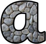 Stone background Stoneage free printable instant display lettering sets for classroom bulletin board displays.