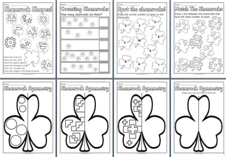 FREE St. Patrick'-s Day Literacy and Math Printables - Kindergarten ...