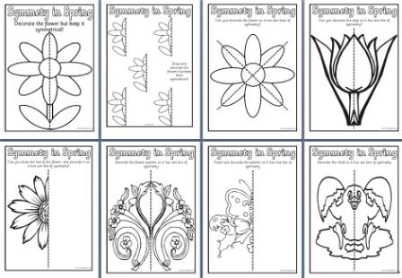 math worksheet : free spring teaching resources downloadable butterfly symmetry  : Maths Worksheets Ks2 Printable