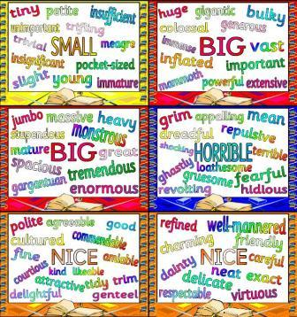 Free Printable Synonyms Posters