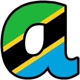Free printable classroom display lettering - Tanzania Flag