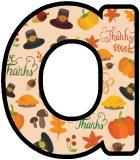 Free printable instant display lettering sets with a Thanksgiving themed background.