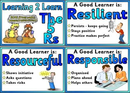 Free Good Learners are... poster set for classroom display