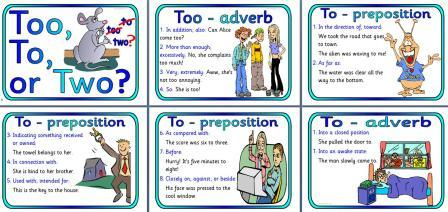 Free Printable Too To or Two Teaching Resource Posters