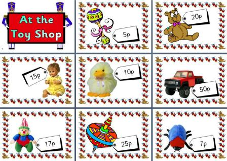Free Printable Toy Shop Maths Role Play Area