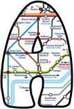 London Underground, tube stations map letters