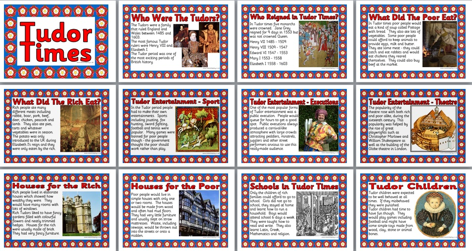 KS2 History Teaching Resource - Tudor Times printable classroom ...