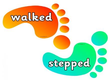 Synonyms for walked on coloured feet. Includes blank feet to add your ...