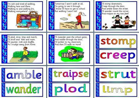 Free Synonyms for Walked Poem and display