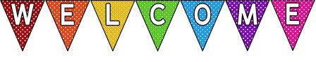 Image result for welcome bunting clipart