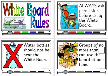 Free Printable Whiteboard Rules Posters