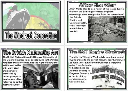 Free printable Windrush Generation poster set information for classrooms history topics west indes