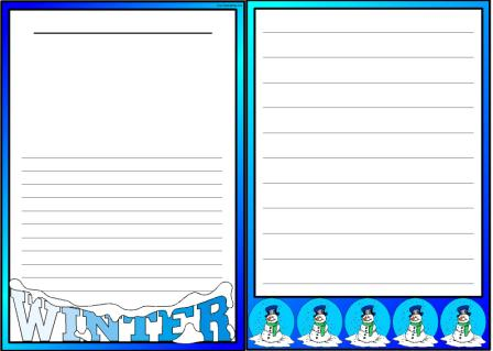 free winter page border printables free winter vocabulary disp lay