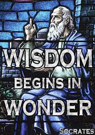 Wisdom begins in Wonder Socrates quote free printable motivational poster