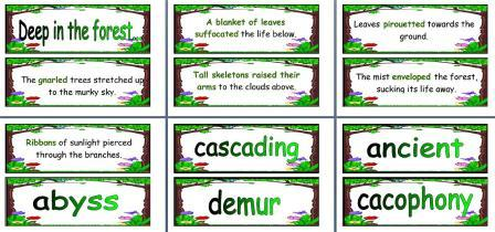 free printable wood vocabulary cards