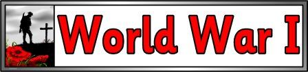 Free downloadable World War I banner