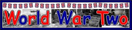 Free printable World War II banner for Classroom History display
