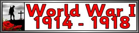 Free printable banner for World War I